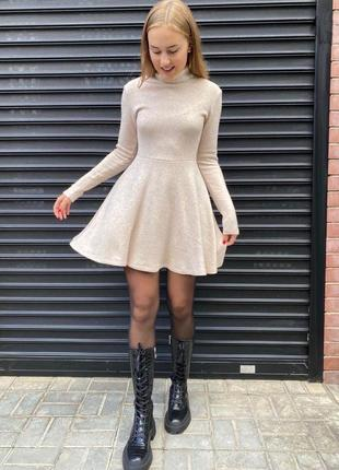 Платье женское с ангоры тёплое платье-свитер