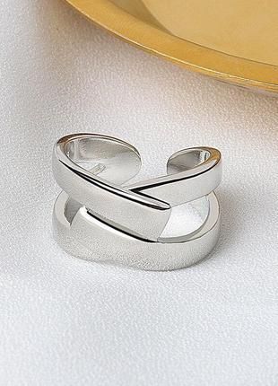 Кольцо оригинальной формы серебро 925 / большая распродажа!