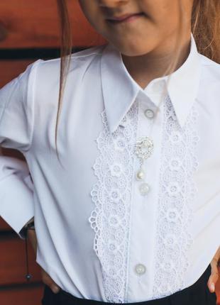 Рубашка для девочки школьная форма блуза