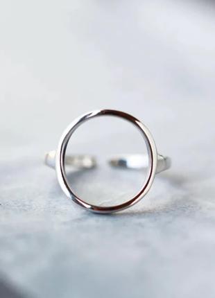 Кольцо круг минимализм серебро 925 / большая распродажа!