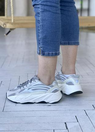 Женские кроссовки adidas yeezy boost 700 v2 static reflective