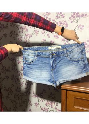 Короткие джинсовые шорты с подворотами denim co 14 42 xl
