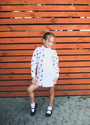 Рубашка для девочки школьная форма блуза удлинённая