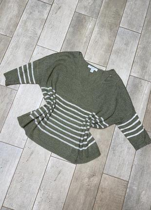 Пуловер в полоску,объёмная кофта,тельняшка(14)