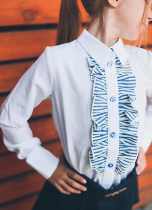 Рубашка для девочки школьная форма блузка