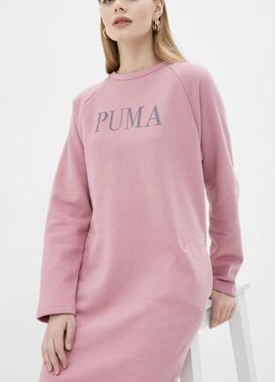 Розовое платье puma на флисе р.s
