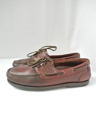 Стильные классические кожаные мужские туфли timberland. размер 41-42.