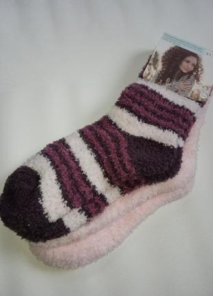 Пушистые флисовые носочки
