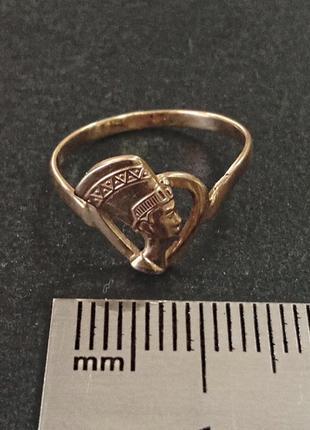 Золотое кольцо нефертити, размер 15,5 - арт. 978599080