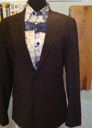 Весьма приличный, приталенный пиджак бренда h&m, р. 48-50