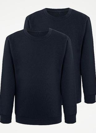 Теплая кофта, свитшот для мальчика george 7-8, 9-10, 10-11, 11-12 лет, цвет темносиний