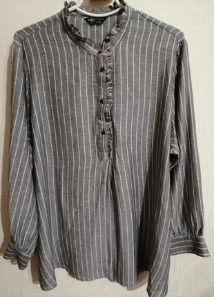 💥батал💥 блуза рубашка офисная туника большой размер