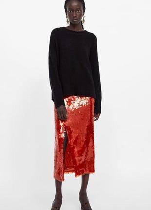 Свитер oversized zara knit
