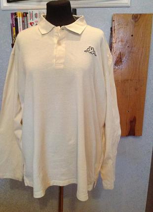 Натуральная, трикотажная рубашка - поло, бренда kappa, р. 64-66