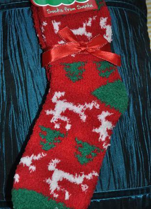 Веселые новогодние носочки