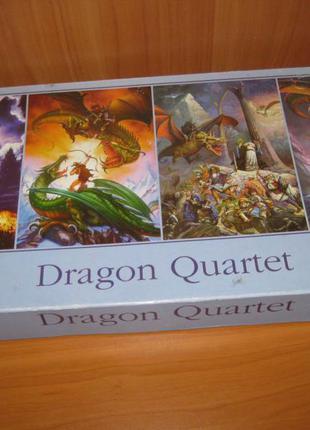 """Пазлы """"jigsaw"""" 4 по 500 шт. """" dragons """""""