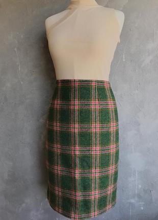 Твидовая юбка премиум - шерстяная юбка карандаш