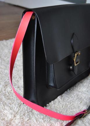 Кожаная сумка кроссбоди планшет jas m.b / шкіряна сумка