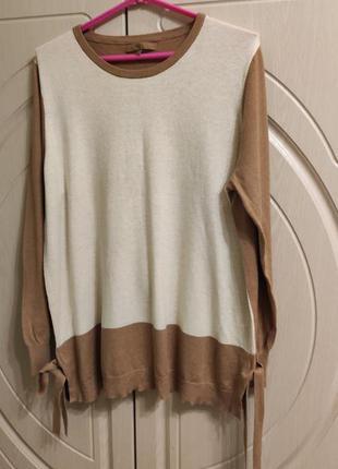 Оригинальный женский удлиненный свитер на р.54-56/ uk20