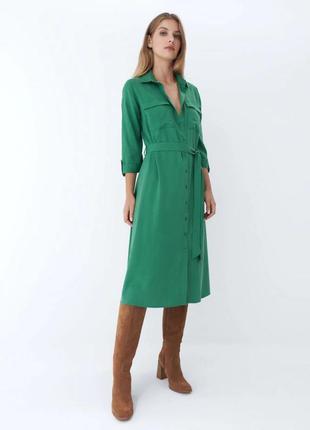 Платье-рубашка миди xxs-xl
