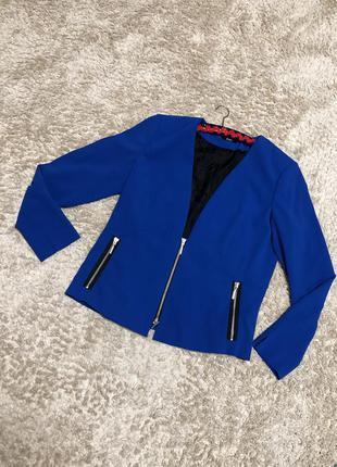 Піджак синього кольору, розмір хл/2хл