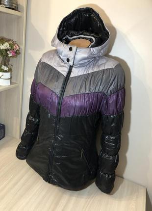 Тёплая куртка короткая курточка жіноча 46/36