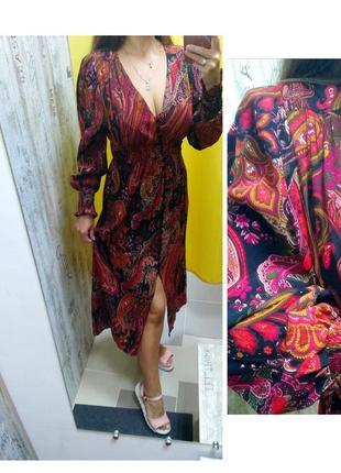 Платье от zara из натуральной ткани.