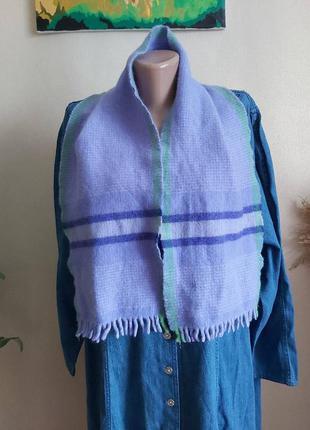 Новый мега теплый шарф со 100 % шерсти в нежно сиреневом/лавандовом цвете