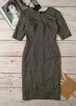 Тёплое платье миди