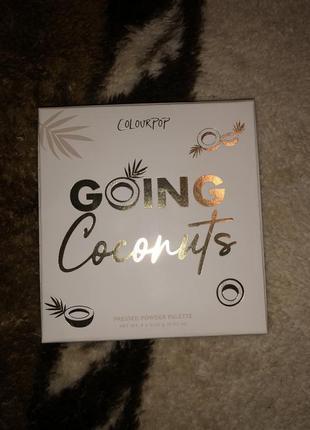 Оригинал! палетка теней colour pop going coconuts