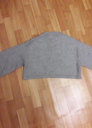 Свитшот укороченный вязаный, топ, свитер, рукав реглан