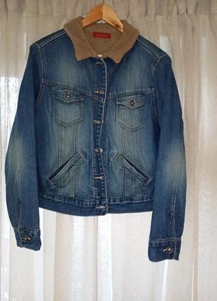 Зимняя куртка джинсовая курточка river island