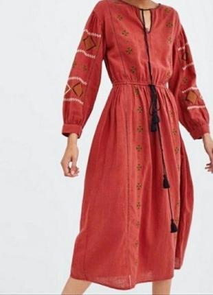 Платье в стиле бохо/вышитое платье