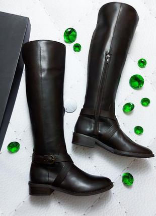 Inc international concepts кожаные коричневые сапоги на низком каблуке бренд из сша