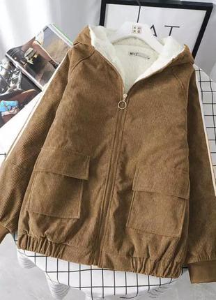 Куртка курточка на меху зимняя пальто дубленка ветровка