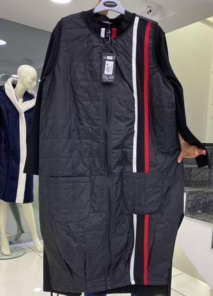 Мега стильный комплект платье и жилетка турция