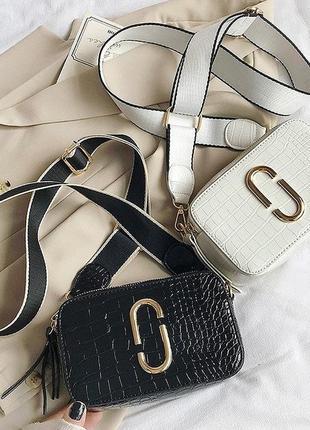 Акция! женская мини сумка под рептилию с широким ремнем/женская сумка через плечо.