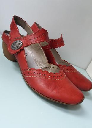 Туфли натуральная кожа, на липучках
