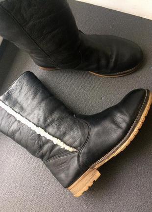 Зимние полусапожки ботиночки натуральная кожа и мех liberto