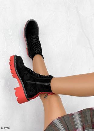 Женские яркие ботинки 🍁