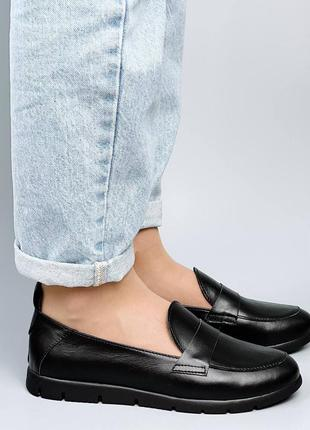 Лоферы туфли чёрные