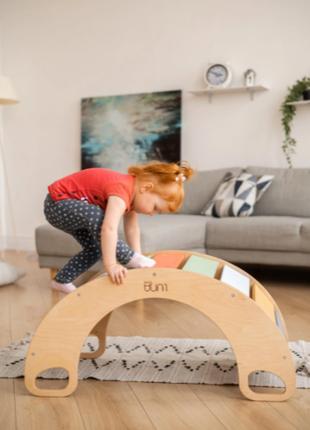 Дерев'яна кольорова качалка – ексклюзивна дерев'яна іграшка, виконана з еко-матеріалів