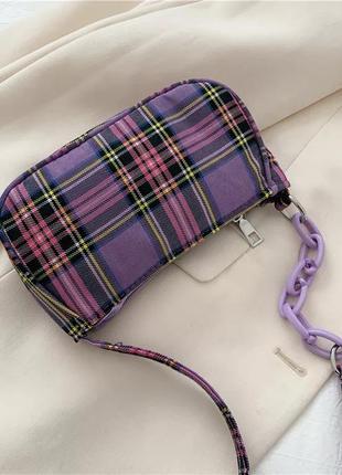 Фиолетовая сумочка багет