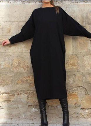 Тёплое платье миди из ангоры свободного кроя oversize👍