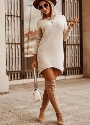 Тёплое платье из ангоры👍хит сезона