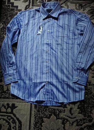 Фірмова англійська бавовняна рубашка сорочка metropolis,нова з бірками,розмір l.