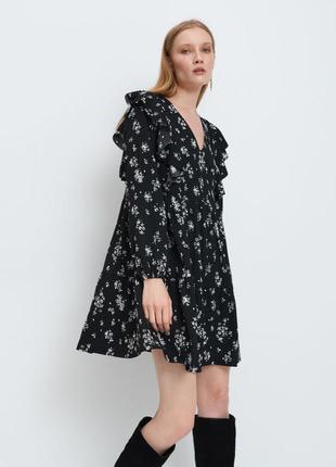 Платье оверсайз сукня с воланами