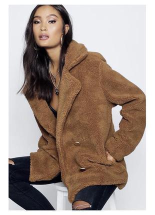 Пальто куртка тедди барашек овечка чебурашка пушистая махровая плюшевая оверсайз шубка шуба искусственная осень осенняя демисезонная