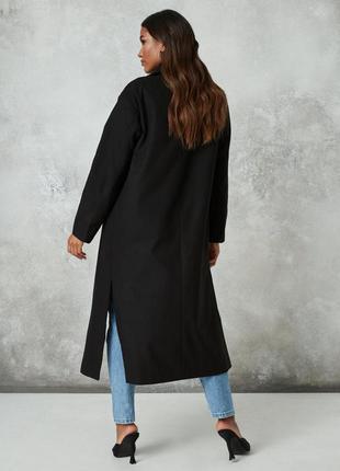 Демисезонное пальто,миди,с разрезами,шерсть+кашемир,antonette