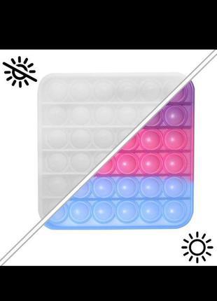 Игрушка антистресс pop it хамелеон меняет цвет на солнце